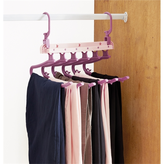 Folding trouser hanger or set of 2