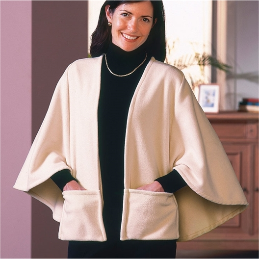 Micro fleece indoor cape