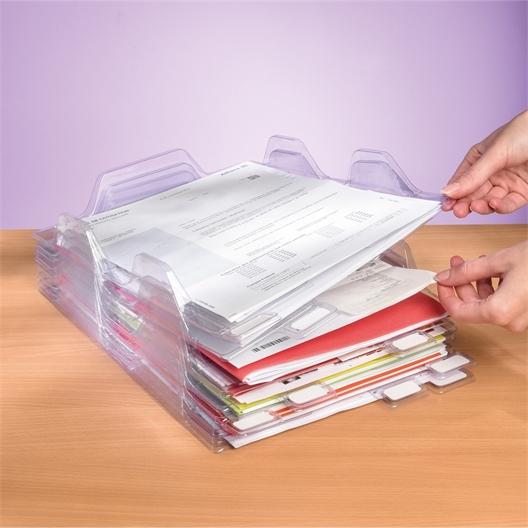 Lot de 8 ou 16 range documents empilables