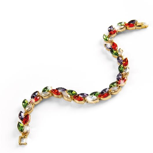 Magnetische armband met blaadjes
