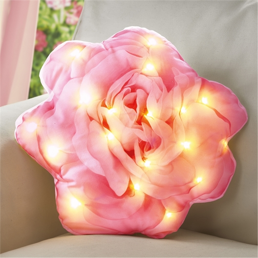 Coussin rose LED