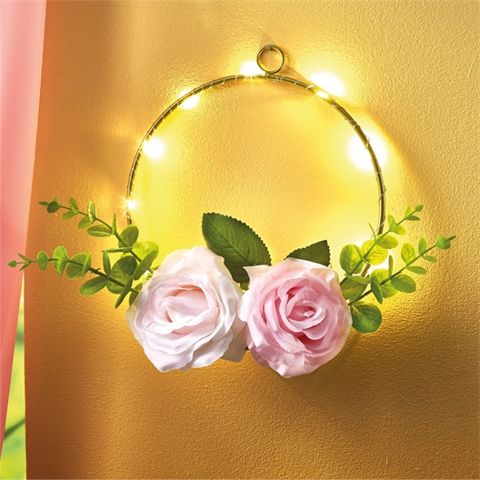 LED garland of roses