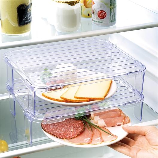 2 plateaux rangement réfrigérateur
