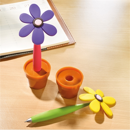 Twee bloemenbalpennen