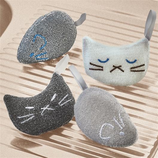 4 éponges chats et souris