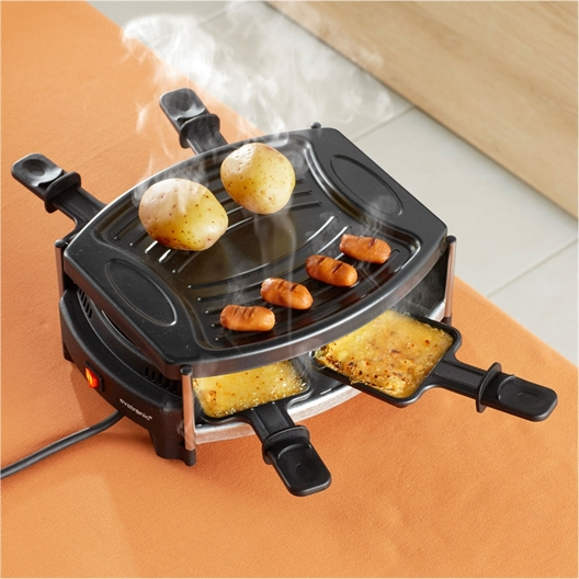 4-persoons raclette- & grillset