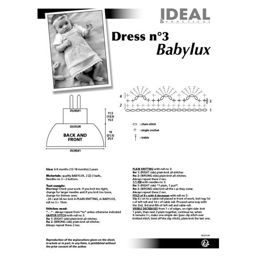 Pattern for Babylux dress n°3