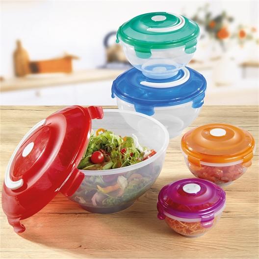5 boîtes saladier couleur