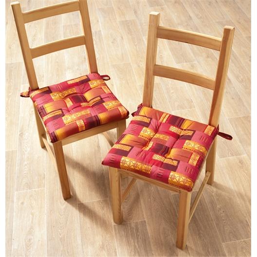 Lot de 2 coussins de chaise Eldorado Lot de 2 galettes de chaise Eldorado
