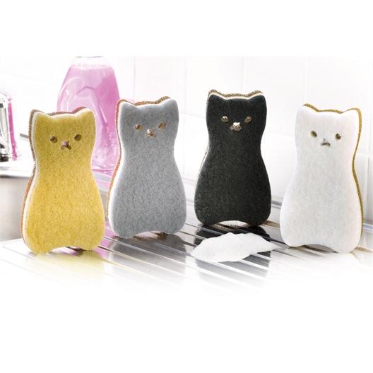 4 éponges chat