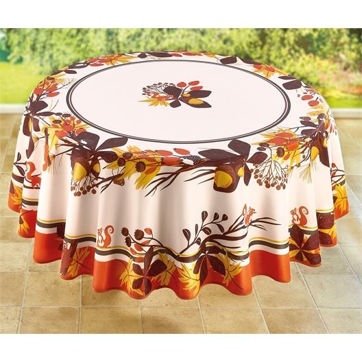 Tischdecke Herbstdekor, rund oder rechteck