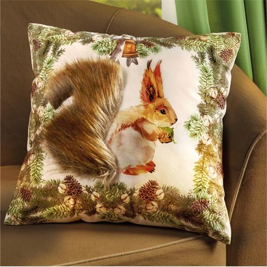 3D squirrel cushion cover