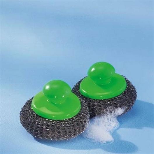 Set of 2 metallic sponges