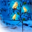 Branche 3 chouettes des neiges