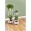 Support piédestal blanc pour plante