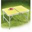 Gele vouwtafel