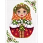 Matryoshka embroidery kit Spring