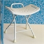 Folding shower stool