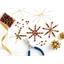 Kit for making 5 traditional beaded stars Creative kit for 5 beaded stars