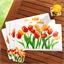 Sets de table + sous-verres tulipes