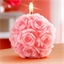 Rose ball candle