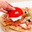 Roulette à pizza rouge