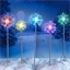 5 solar crystal stake lights