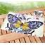 4 Tischsets Großer Schmetterling + Glasuntersetzer