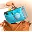 Blauwe handtasorganiser