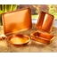 4 copper coloured baking tins