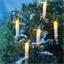5 bougies LED extérieures