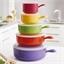 5 casseroles micro-ondes couleur