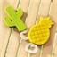 2 tropical pineapple/cactus bottle openers