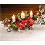 LED poinsettia table centrepiece