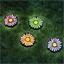 4 piquets solaires marguerites