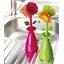 Set of 2 flower washing-up brushes
