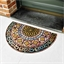 Stained glass semi circular rug