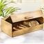 Boîte à pain droite bambou