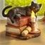 Chat à la bougie