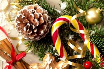 Weihnachts-Tischdekoration